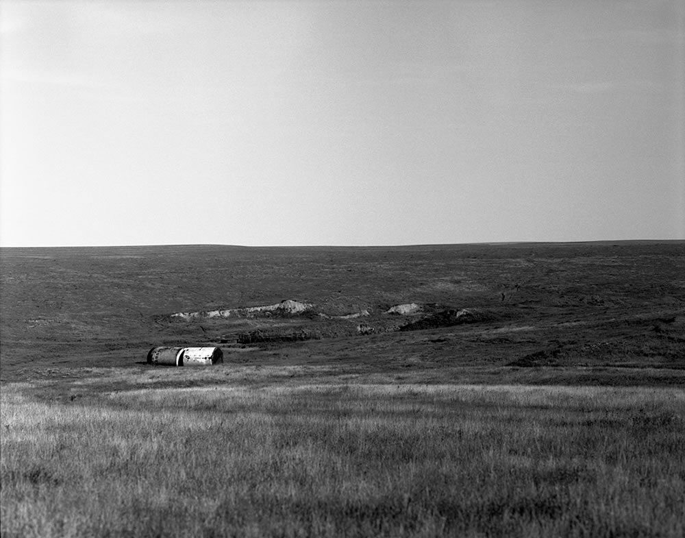 Oil industry remains - Kit Carson County, Colorado. Pentax 6x7, 75mm f/4.5, Ilford Pan F Plus