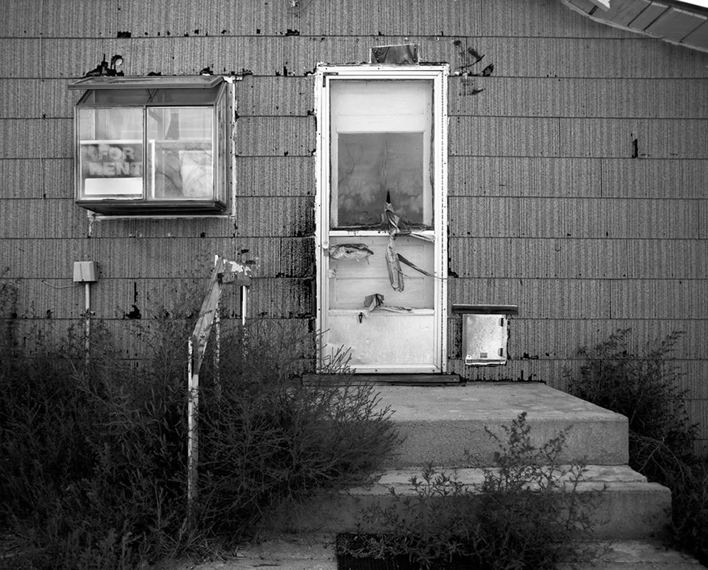 """For Rent"" - Karval, Colorado. Pentax 6x7, 45mm f/4, Ilford Pan F Plus."