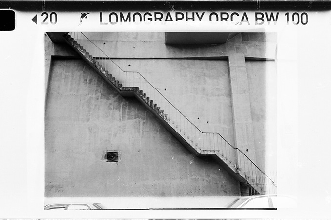 Steppppps - Lomography Orca 110 shot at ISO80