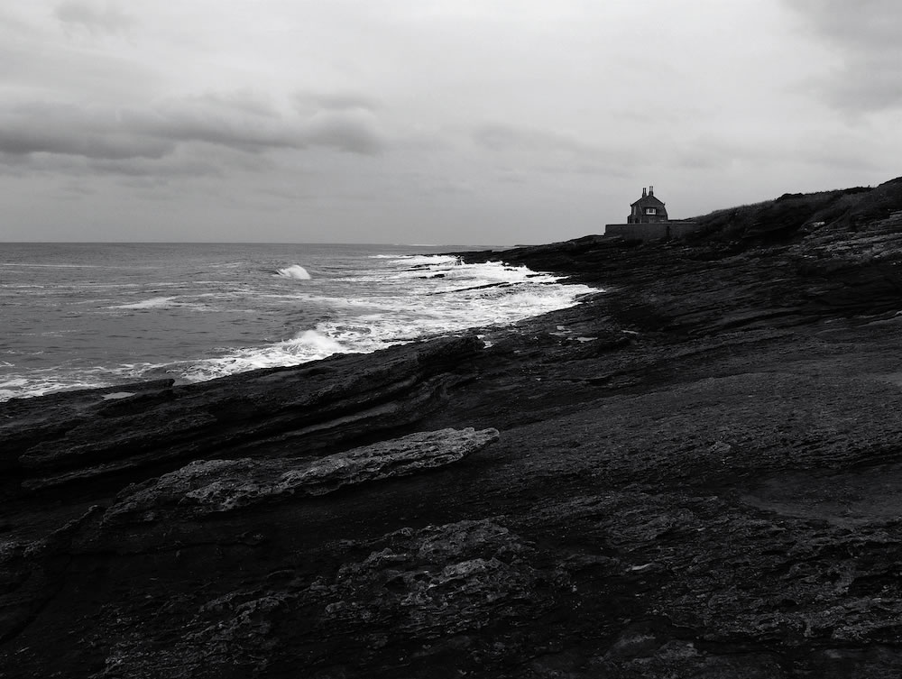 Craster, Northumberland: Bronica ETRSi, 50mm/f16 at 1/30s on Fuji NCN400 with Yellow Filter