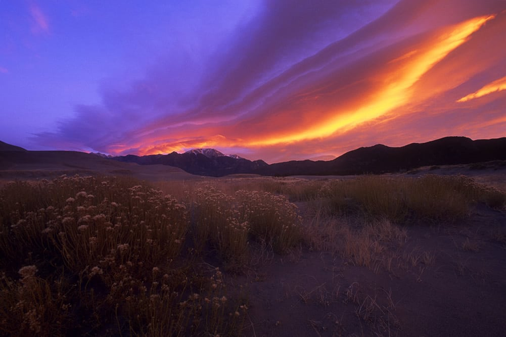 Sunrise, Great Sand Dunes National Park, CO - Nikon F6, Velvia