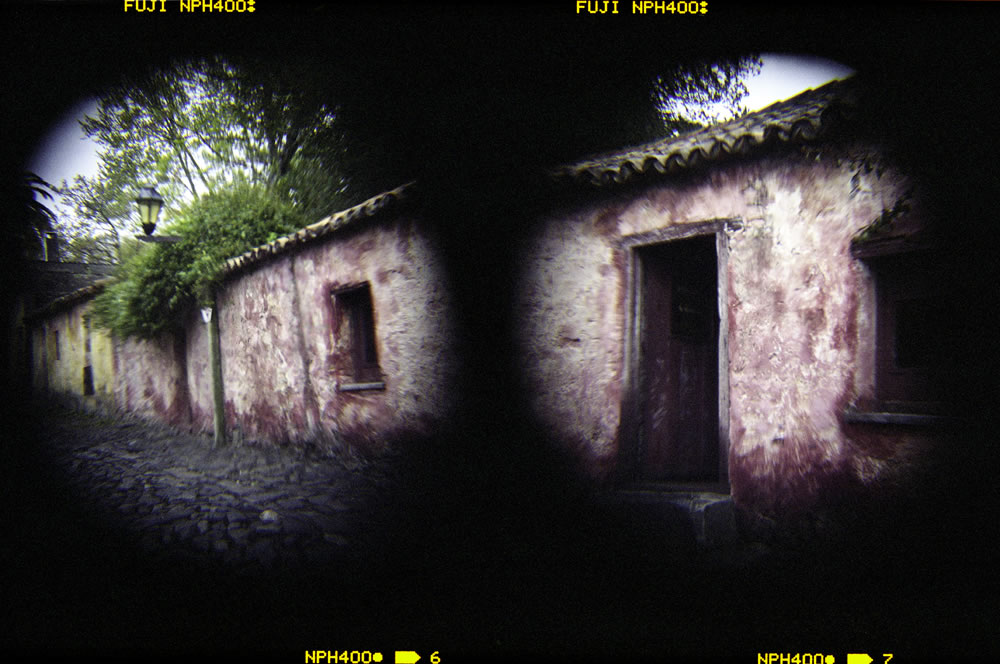 """""""Colonia diptych"""" 2 Holga images shot with Holga wide angle add-on lens, Fuji NPH 400"""