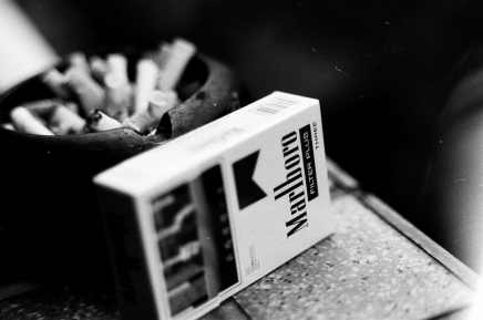 Filthy habit - Ilford FP4+ shot at EI 800. Black and white negative film in 35mm format. Push processed 1+2/3 stops.