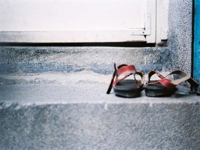 Shoes off at the door - Fuji Pro 400H shot at EI 400. Color negative film in 120 format shot as 6x4.5. 2x Teleconverter..jpg