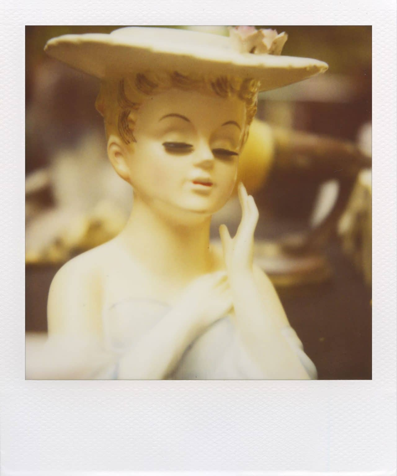 """""""Susie Flowerpot"""" (NYC 2011) - Polaroid SX-70 Alpha 1 Land Camera with expired Polaroid 600 film and ND pack filter"""