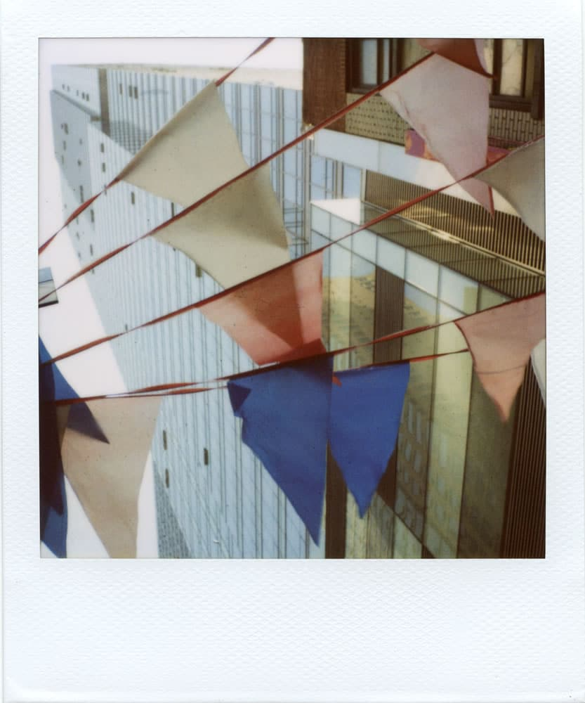 """""""Flags"""" (NYC 2015) - Polaroid SX-70 Alpha 1 Land Camera with expired Polaroid 600 film and ND pack filter"""