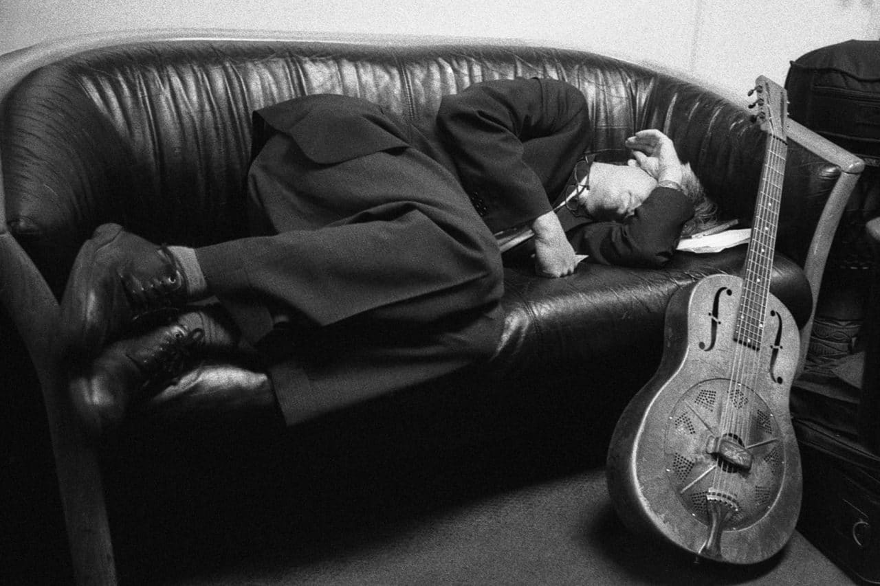 """""""Ribot, Napping"""" (NYC 2005) - Voigtlander VSL3-E with Carl Zeiss Distagon 25mm f/2.8 lens and Ilford Delta 3200 35mm film"""