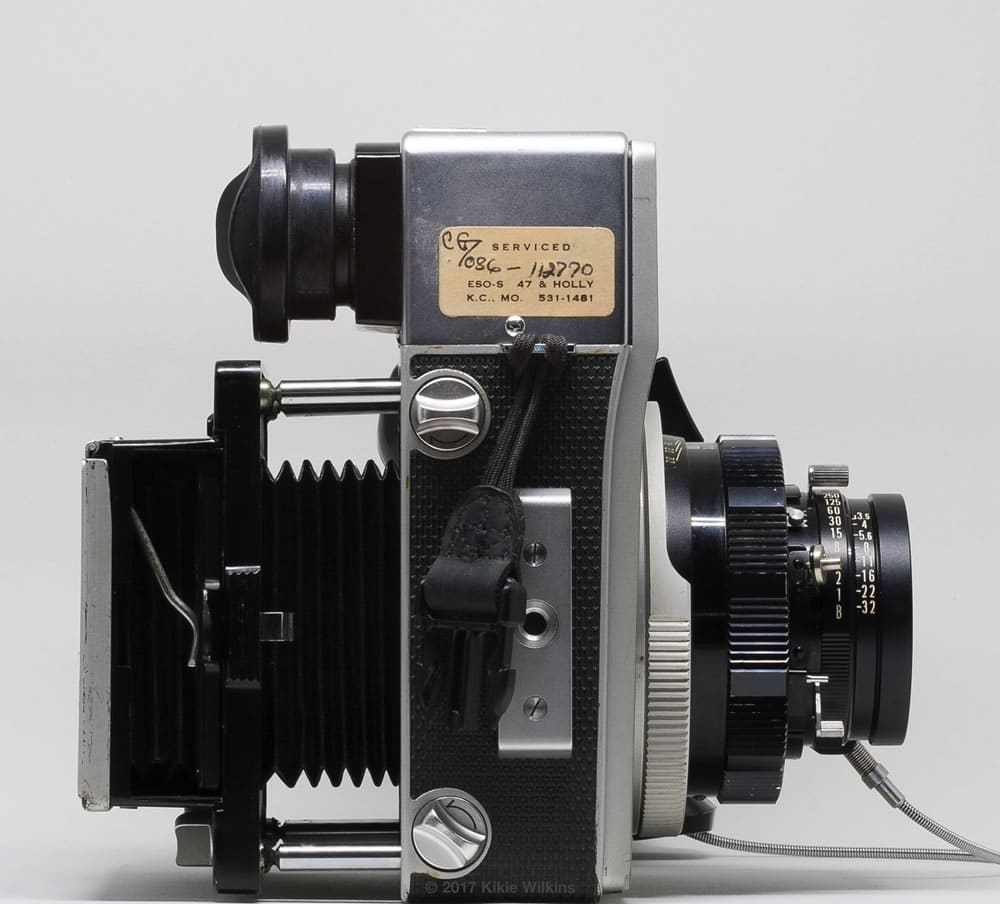 Mamiya Super 23 bellows with focusing screen holder (bellows extended)
