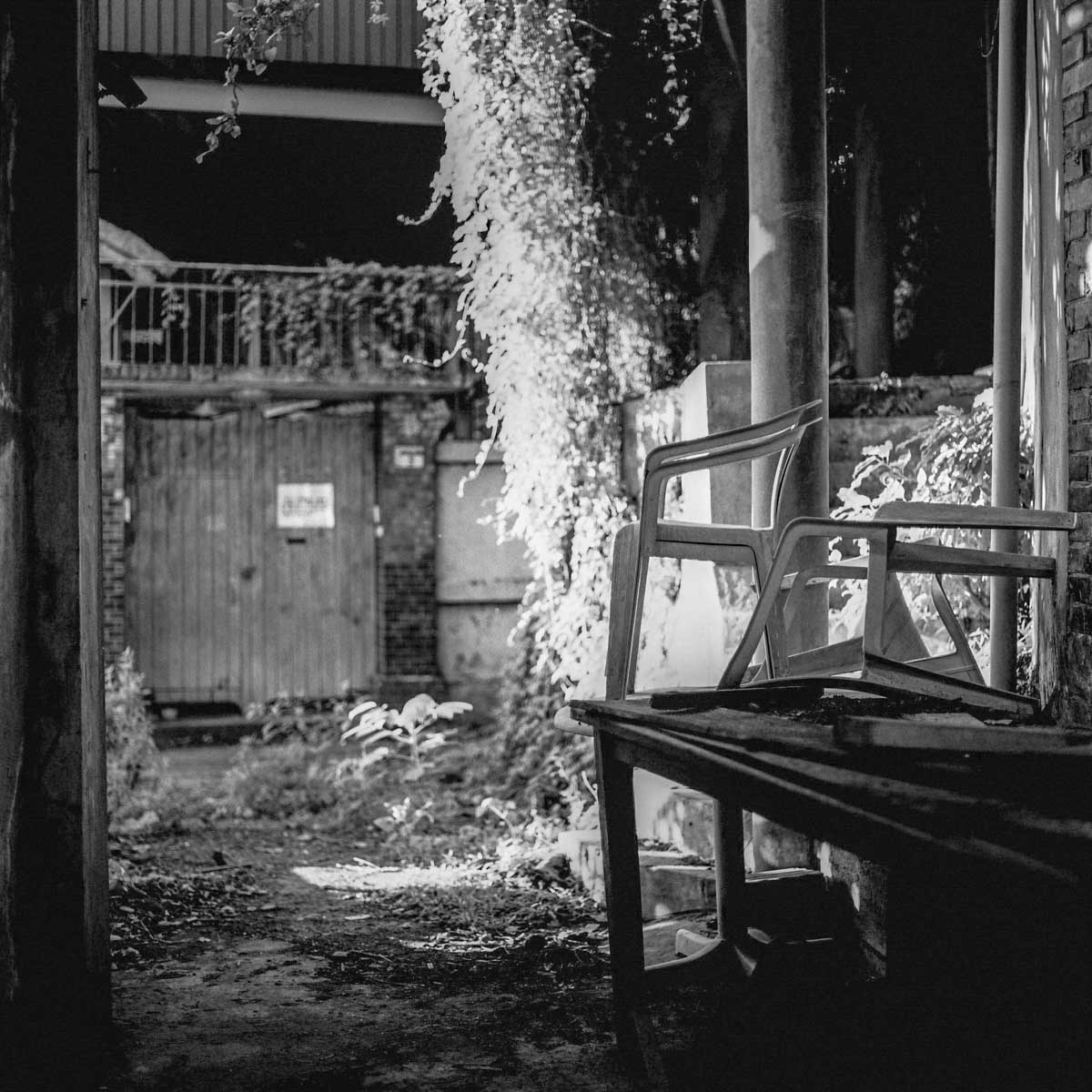 Party's over - Shot on Rollei Infrared 400 at EI 400 - Black and white infrared film in 120 format shot as 6x6 - No filter