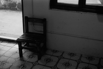 Naughty chair - Shot on Fuji NEOPAN 400 at EI 400. Black and white negative film in 35mm format.