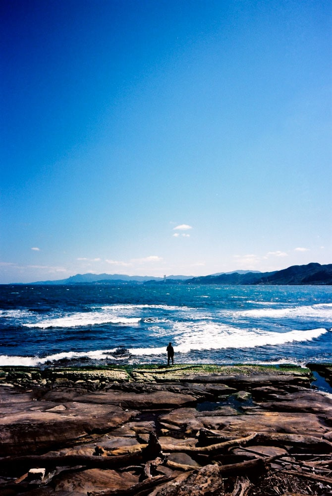 Face the waves - Shot on Kodak Ektar 100 at EI 100. Color negative film in 35mm format. Over processed one stop.