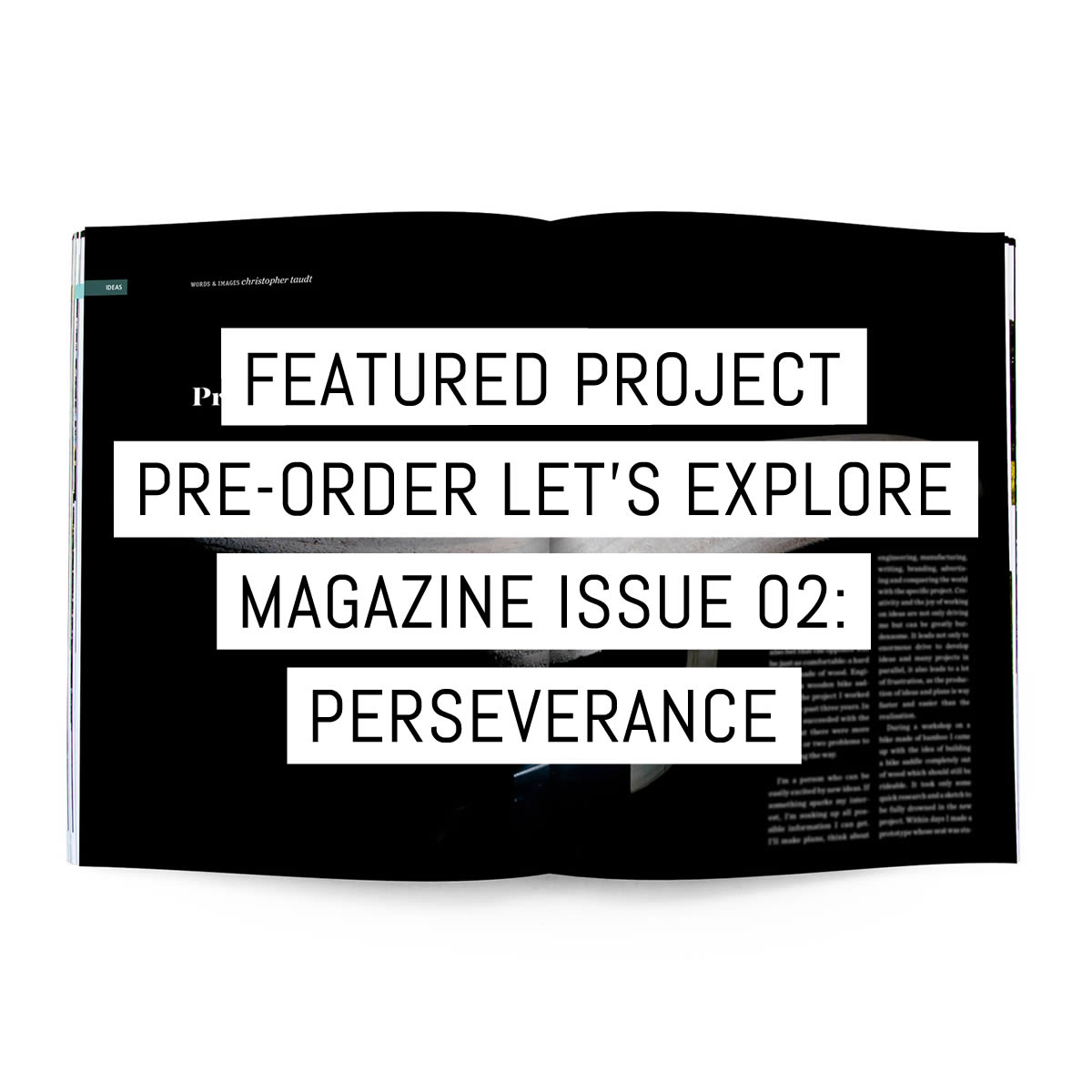 Cover - Featured project - Pre-order Let's Explore Magazine issue 02
