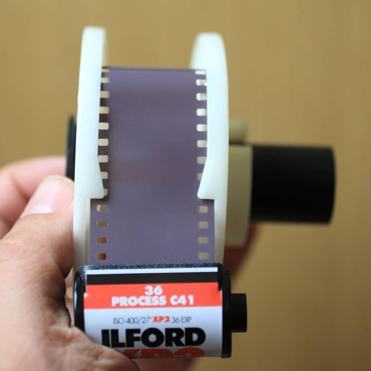 Loading a Paterson tank - Start loading the film