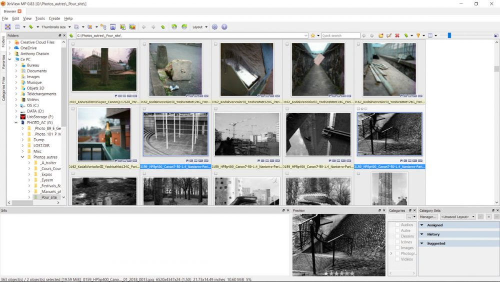 Step 1: XnViewMP - Select images