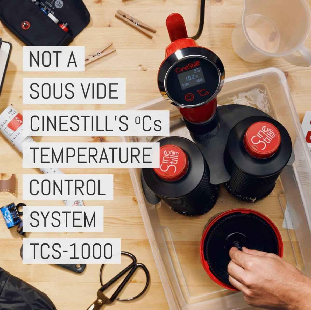 """Cover - Not a sous vide cooker: Cinestill's ºCs """"Temperature Control System"""" for simple film development at home"""