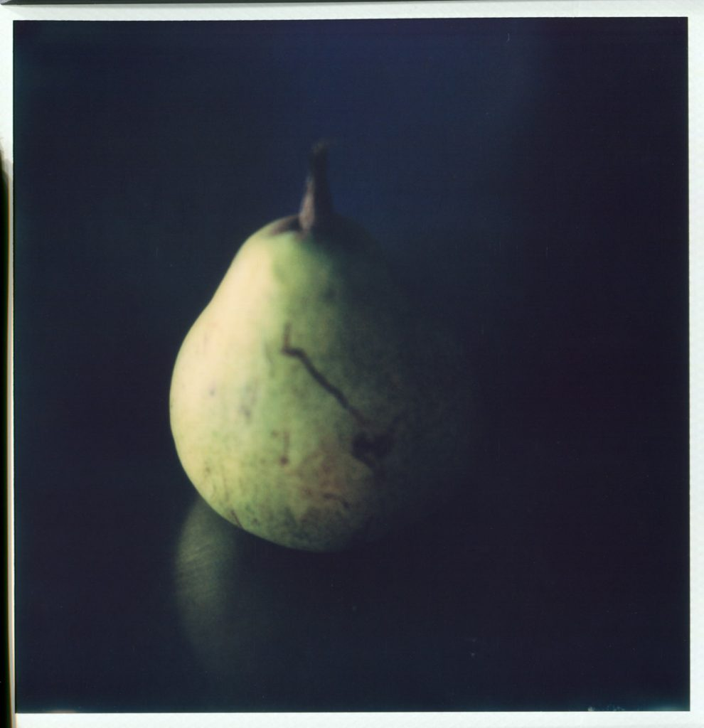 """""""Conversation with Cezanne"""" 2018. Untouched scan of Impossible SX70"""