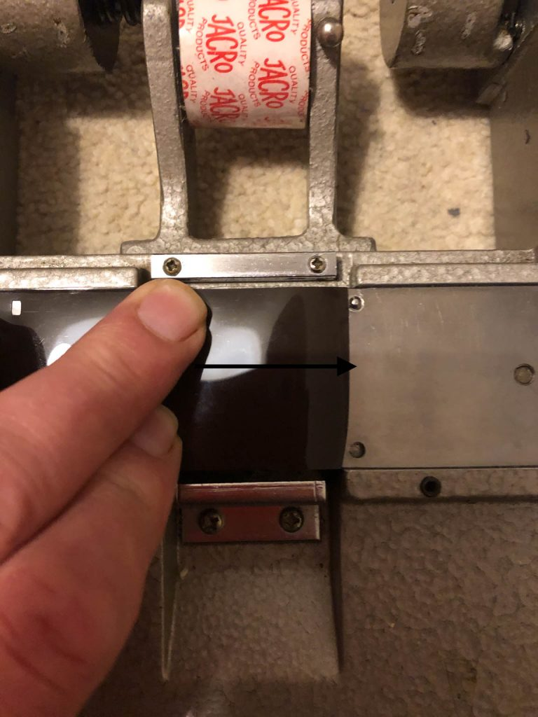 Figure 5 - Align the film to just before the registration pin.