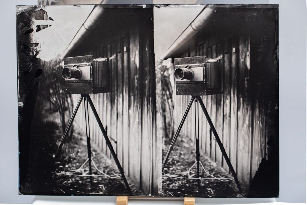The first wetplate - finished!