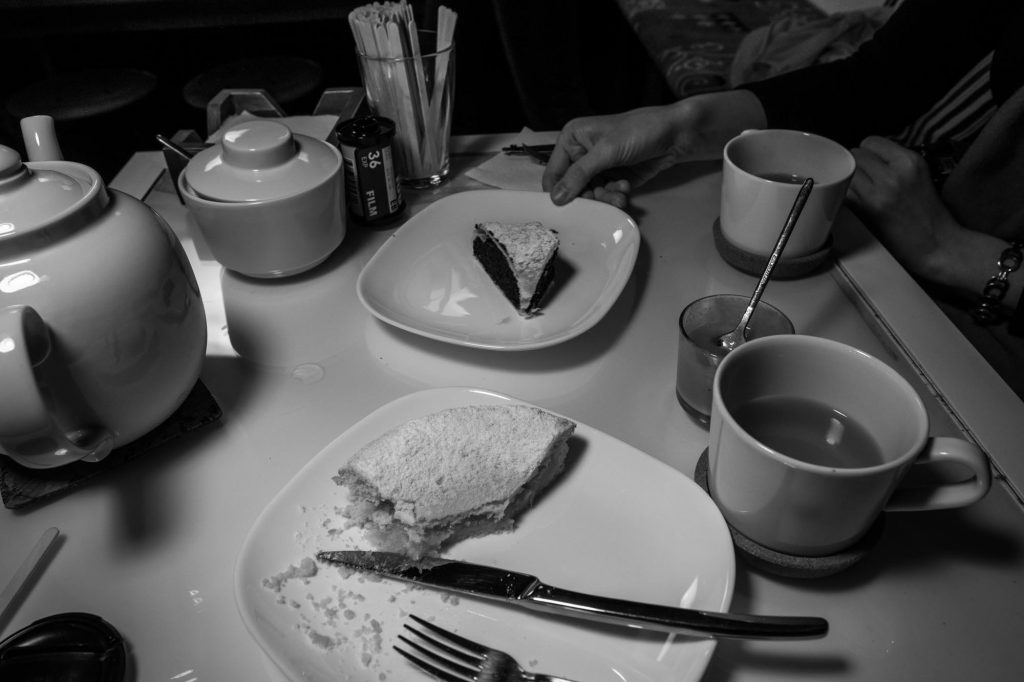 One giant pot of tea and some goodies… the black poppy seed pie was extremely photogenic!