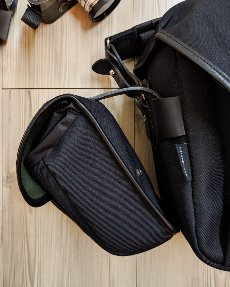 Attaching the AVEA 8 end pocket to the Billingham Hadley One