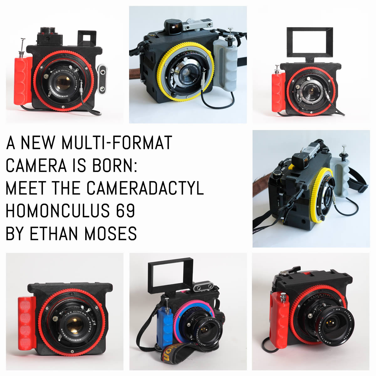 The CAMERADACTYL OG 4x5 hand camera - lightweight large format photography for all