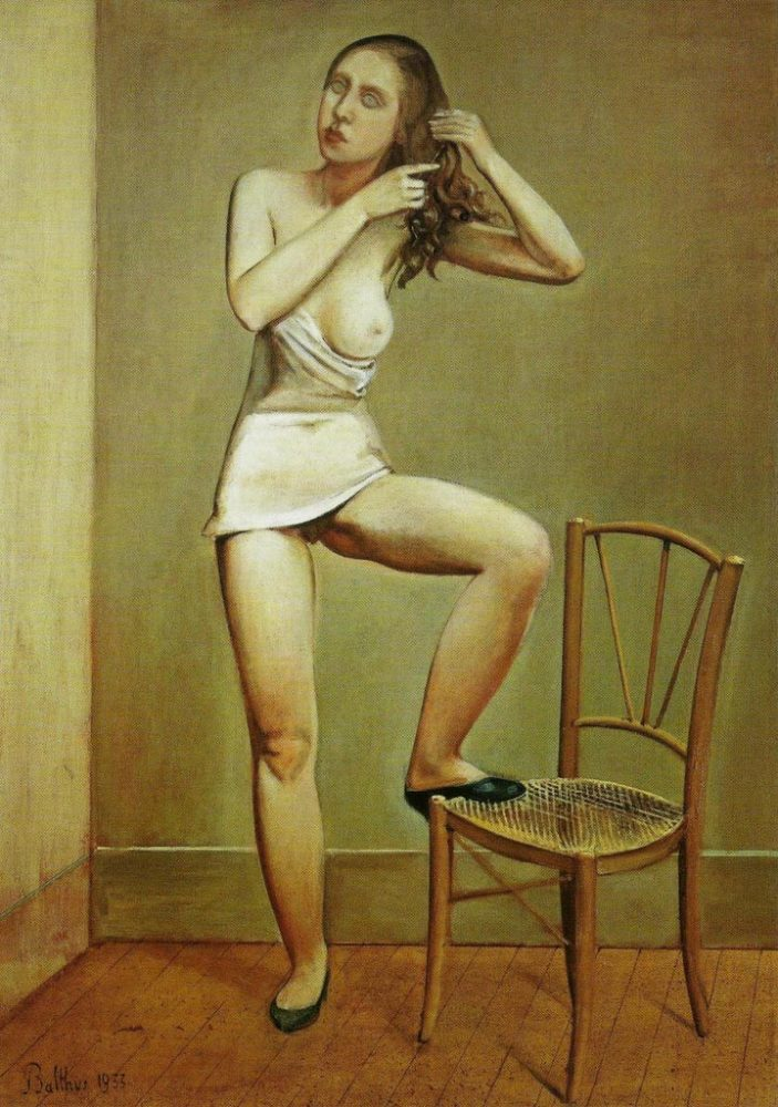 Balthus girl and chair