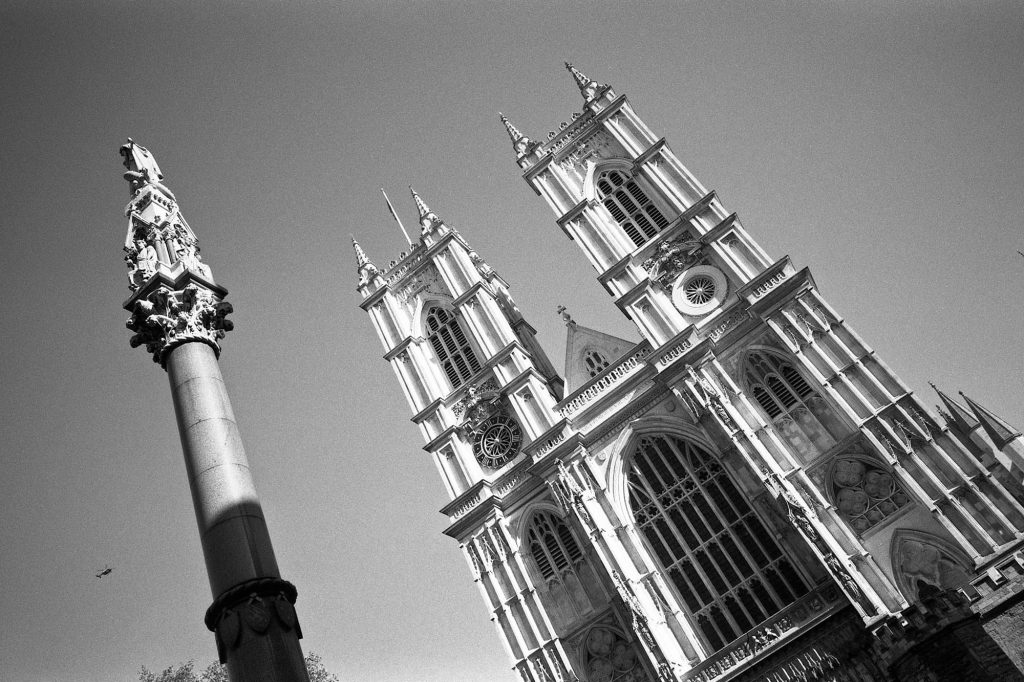 Ricoh GR1s - Check out the fine details of Westminster Abbey