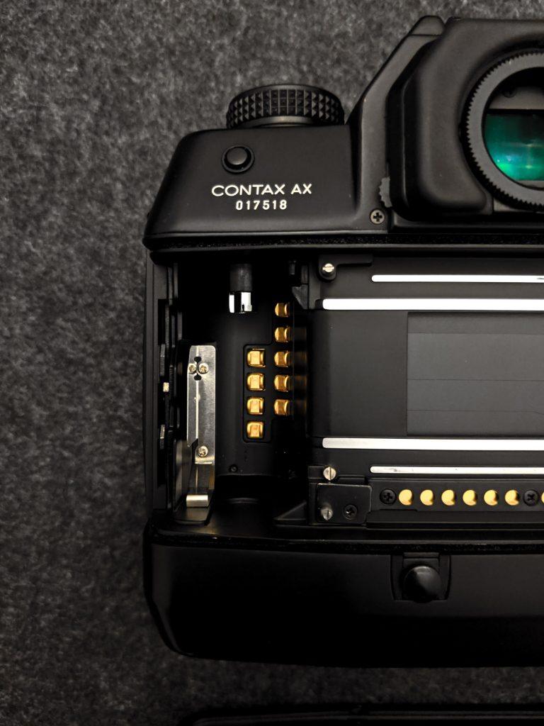 CONTAX AX - Rear, DX contacts