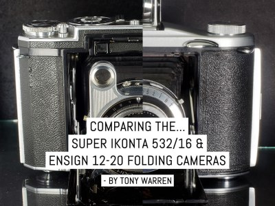 Comparing the Super Ikonta 532-16 and Ensign 12-20 folding cameras