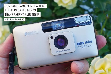Compact camera mega test: The Konica Big Mini's transparent ambitions