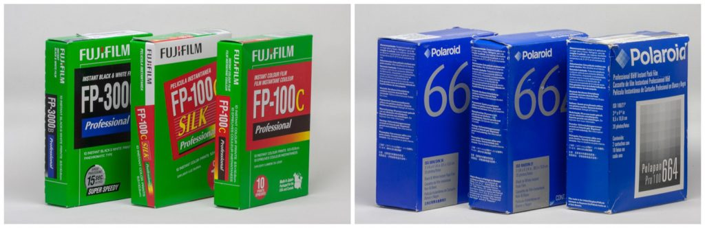 Fujifilm and Polaroid Packfilm