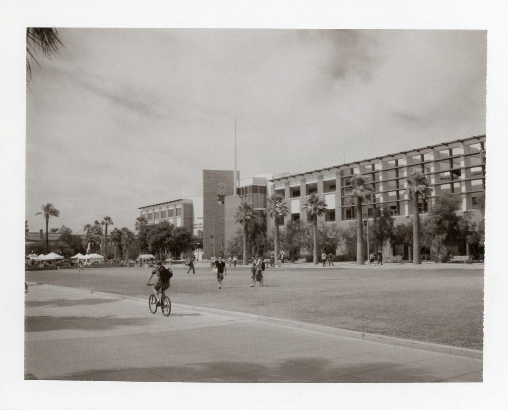 View of the University of Arizona Mall, Polaroid Type 667