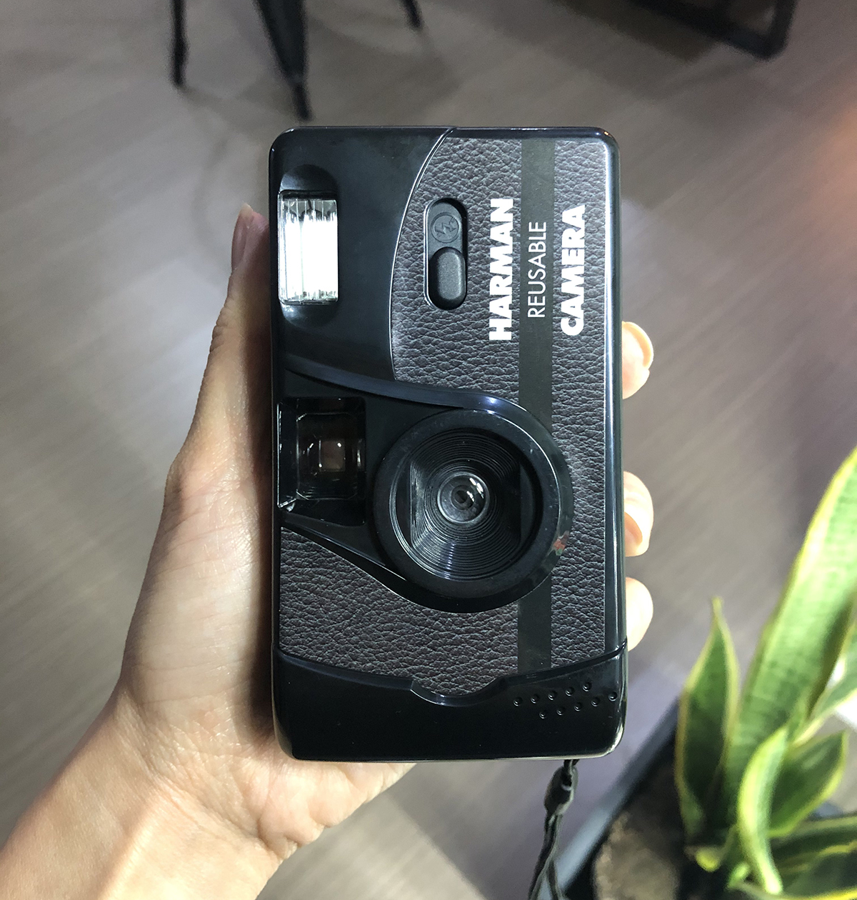 HARMAN REUSABLE CAMERA: The body is purely plastic with sticker detailing.