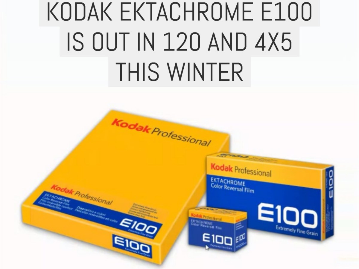 Kodak EKTACHROME E100 is out in 120 and 4x5 this winter