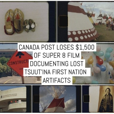 Canada Post loses $1,500 of Super 8 film documenting lost Tsuut'ina First Nation artifacts