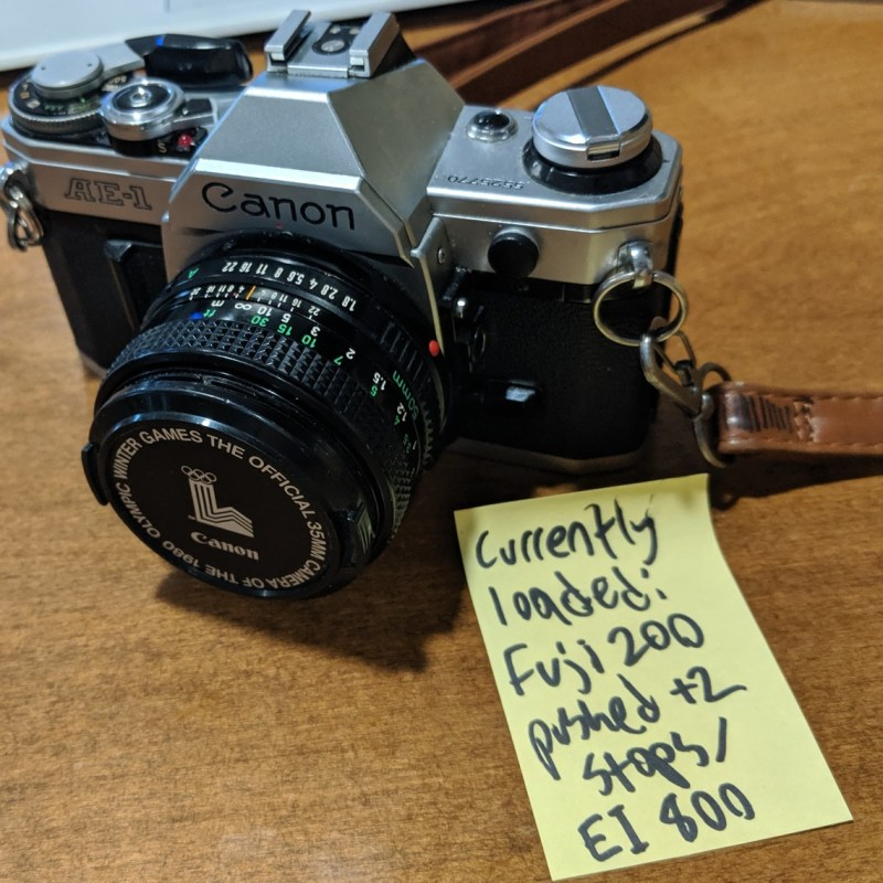 Canon AE-1 with and Canon FD 50mm f/1.8