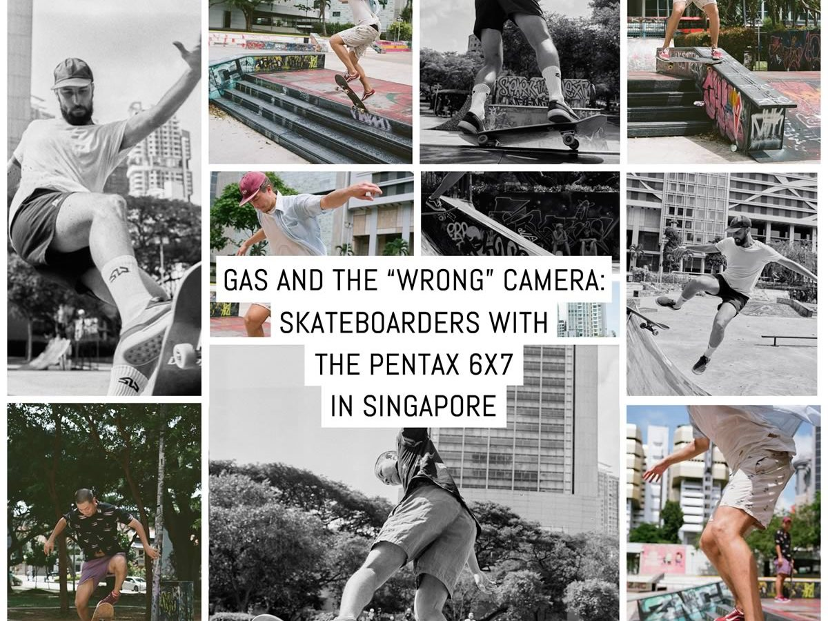 """GAS and the """"wrong"""" camera: skateboarders with the Pentax 6x7 in Singapore"""
