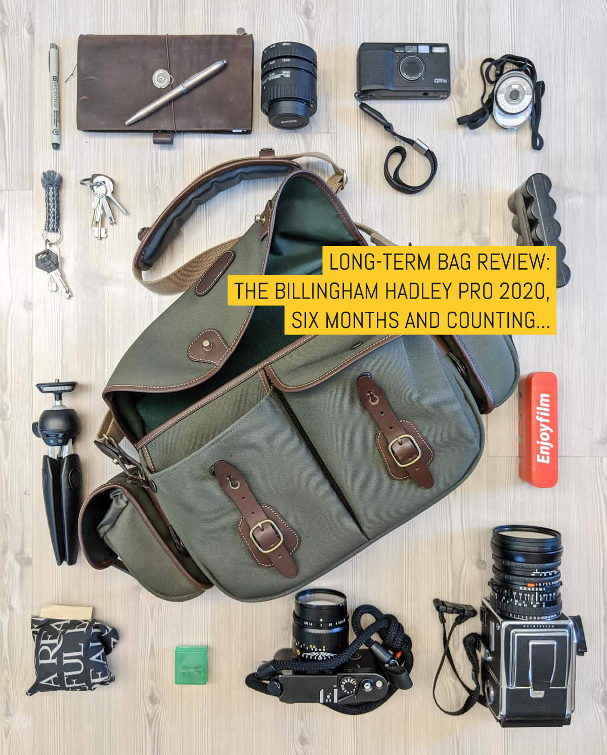 Long-term bag review: The Billingham Hadley Pro 2020, six months and counting...