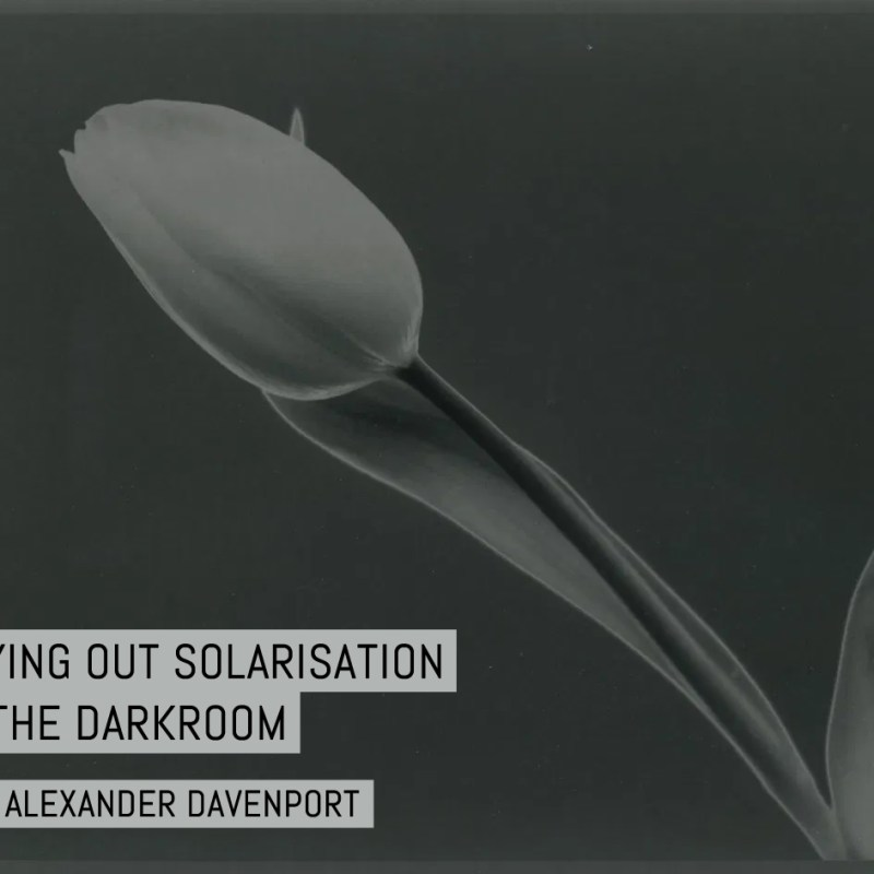 Trying out solarisation in the darkroom
