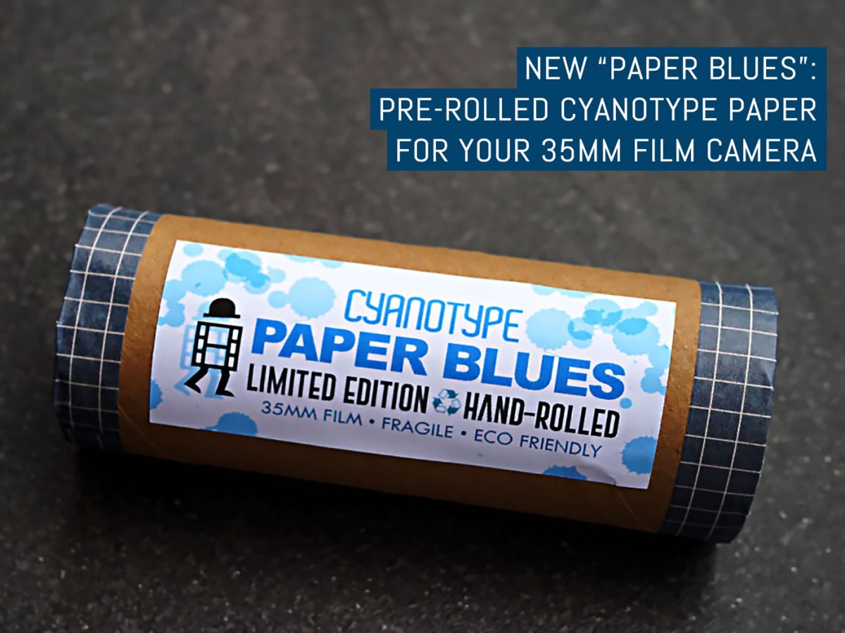 New Paper Blues - Pre-rolled cyanotype paper for your 35mm film camera