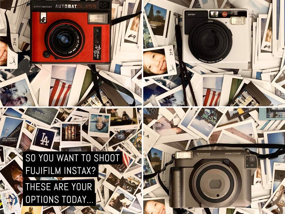 So you want to shoot Fujifilm Instax? These are your options today... Image Credit: Edward Conde