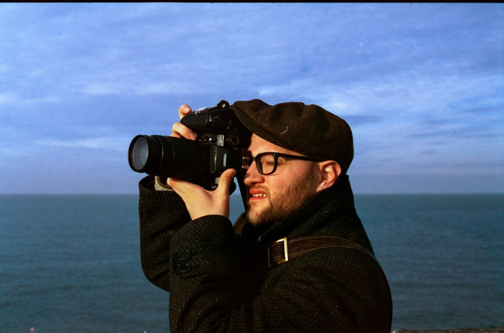 A rare photograph of me photographing, taken by David Babaian