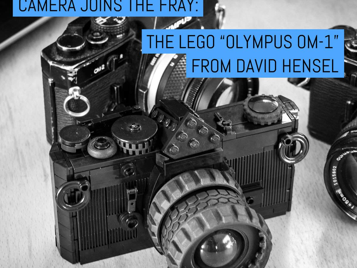 """Another LEGO film camera joins the fray: The """"Olympus OM-1"""" from David Hensel"""