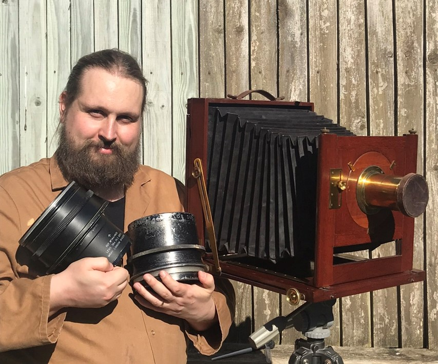 """The camera that sparked the idea of camera making. A Middlemiss 10x12"""" field camera."""