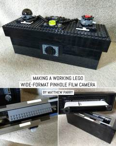 Making a working LEGO wide-format pinhole film camera