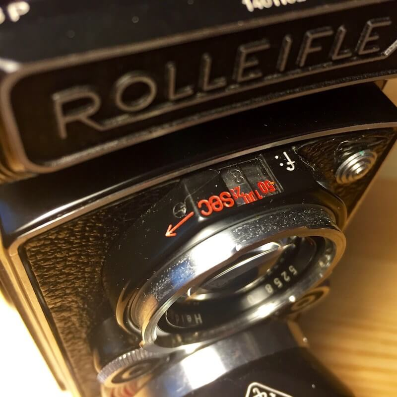 Rolleiflex MX - Exposure settings indicator