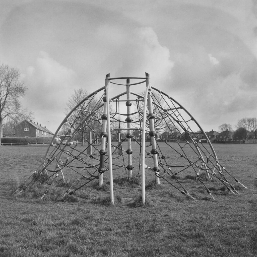 Yashica-B, ILFORD HP5 PLUS home Developed in Ilford HC. An empty playground