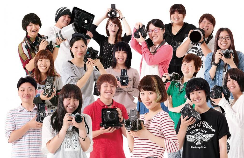 Pictures of the members of a photography class in Nagoya, Japan