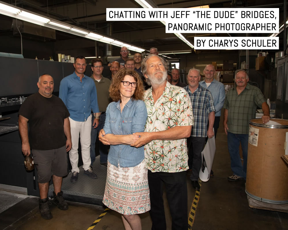 """Cover - Chatting with Jeff """"The Dude"""" Bridges, Panoramic Photographer - by Charys Schuler of SilvergrainClassics"""