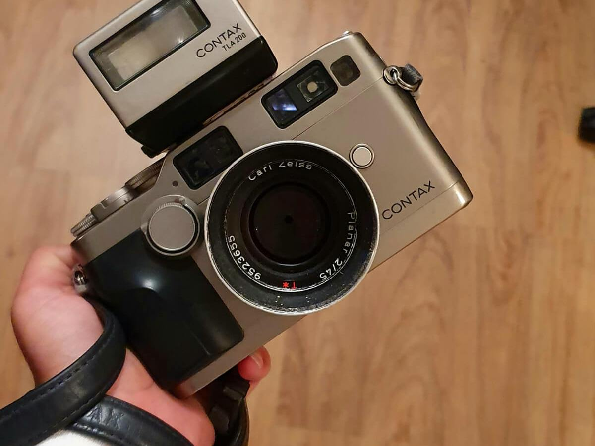 My Contax G2, 45mm Carl Zeiss Planar and TLA200, Tahmid